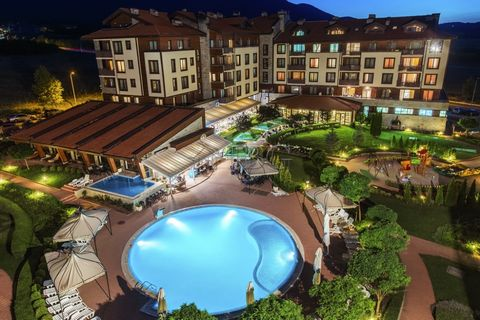Blagoevgrad. Pool view Apartment with 2 Bedrooms and 2 bathrooms in Murite Bansko This spacious and bright, beautifully equipped, fully furnished, two bedroom apartment is situated on the 2nd floor in the fully established complex Murite (former name...
