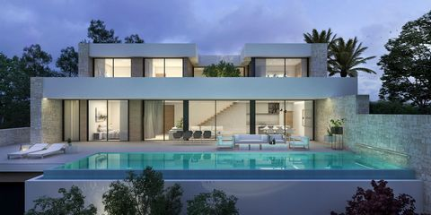 Luxurious 4 bedroom villa under construction in Moraira (Costa Blanca), with a private pool and great sea views, just 2 km from the beach. This fantastic 324 sqm villa, is being built in 3 levels, connected by internal stairs, on a flat 918 sqm plot,...