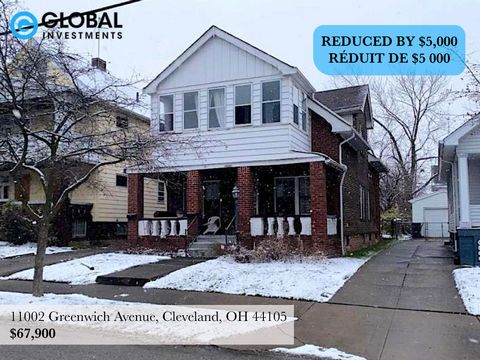 This large two apartment multi family house is located on a nice street in Union - Miles Park which is a great neighborhood in Cleveland, this area is close to Mount Pleasant and Slavic Village. It is also just a few minutes from John Adams College A...