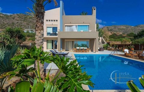 This luxury villa for sale in Ierapetra Crete is located next to the sea, close to the village of Makris Gialos. Ierapetra is located 18 km along the coast of the Libyan Sea in Crete. The villa has 304 sqm of living space and includes 4 bedrooms, 3...