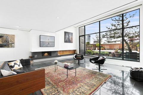 Enjoy penthouse perfection with open views from your enormous private terrace in the heart of SoHo! This architecturally significant, magical three bedroom, three bath apartment is like a floating townhouse floating over the landmarked cast-iron faca...