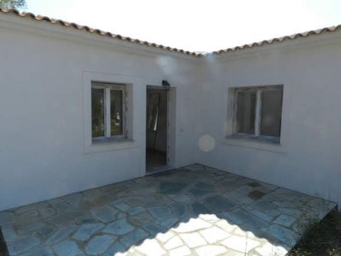 Country property off the main paved road, between Agnonda beach and Panormos beach. The village name is Ditropan and the lot is direct across the street from station