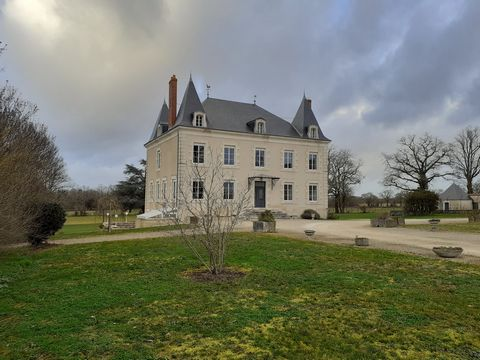 Beautiful 19th Century Chateau, perfectly renovated with no expense spared! Gated entrance, accommodation on 4 levels, guardian house, renovated outbuildings, pool house, small lake and parkland with country views and easy access to the historic town...