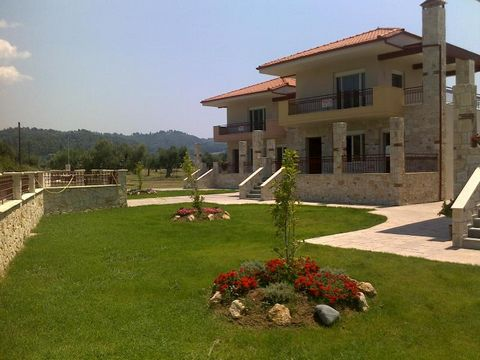 Odyssey Homes are located between the Skala Fourka and Fourka townships in the Halkidiki area of Macedonia. There are a total of 3 new constructed villas built with stone and each with a decorative stone wall surrounding them with entry gates. The ar...