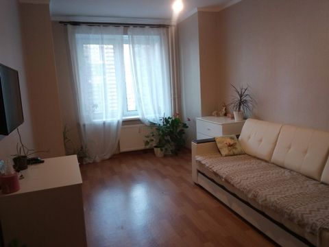 This is a small cosy flat. There is a corridor, kitchen, bedroom and bathroom. In the corridor there is a big wardrobe with a few shelves for shoes and a rack for coats and jackets. The bedroom is a bright room with a big window. In the corner there ...