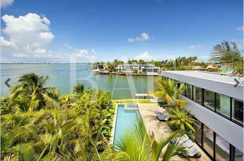 Stunning contemporary luxury home offers over 9,600 square feet of miami lifestyle! with 6,612 sq ft of interior under aircon living, two car garage, over 1,030 sq ft of covered terrace space, and over 2,000 sq ft rooftop terrace with 360 degree view...