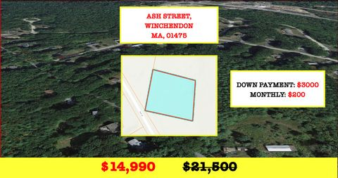 Located in Winchendon. .68 Acre in Winchendon, MA - Great for Nature Lover - Walking & Bike Trails nearby - Comps sold at $26,000 and more! BUY FOR ONLY $14,990! Note: We sell real estate at discount wholesale prices! Winchendon is a small town with ...