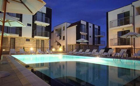New Line Village is a lovely complex 3 Km from the centre of Sunny Beach on the Black Sea Coast. It is located on an elevated site only 10 mins walk from the beach and close to all amenities. The apartment on offer is on the first floor and is fully ...