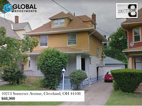 This large three bedroom house is located on a nice street in the sought after area of Glenville, just five minutes from Glenville High School and is only a short distance from the Lakefront. There are three large bedrooms, a full basement, large din...