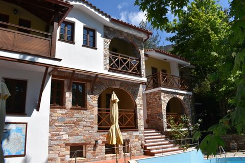Property Code: 1602 - FOR SALE 8 Spaces, Hotel of total surface 600 sq.m, on the 1 st floor Mikros Prinos. The property comprises 8 Spaces, . and it is also features Heating system: Individual - Petrol, View of the Forest, Window frames: Wooden, Park...